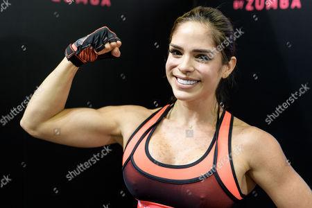 Instagram Star and Fitnesstrainerin Michelle Lewin während der FIBO am 12.04.2018, Foto: Joerg Schueler Michelle Lewin