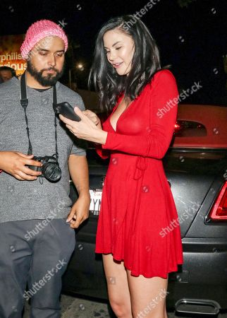 Editorial picture of Celebrities outside Warwick Nightclub, Los Angeles, USA - 12 Apr 2018