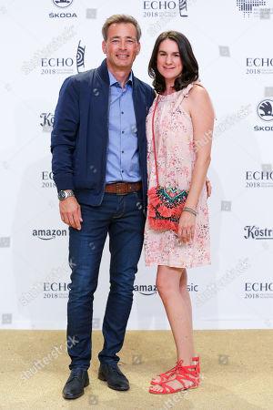 Jan Sosniok mit Ehefrau Nadine Moellers