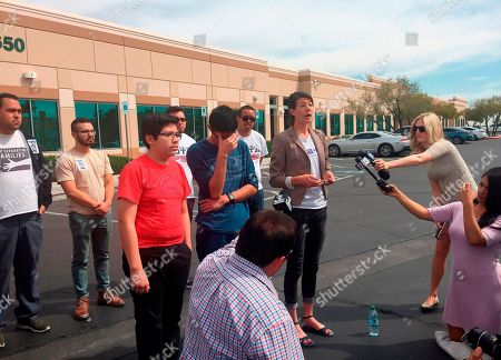 Eric Avelar-Gomez, Ricardo Avelar-Gomez, Bliss Requa-Trautz. Eric Avelar-Gomez, front left, Ricardo Avelar-Gomez, center, and Bliss Requa-Trautz right, speak outside the Las Vegas office of U.S. Citizenship and Immigration Services to call on immigration authorities to release from custody Mexican national Cecilia Gomez. Cecilia Gomez is one victim to fall prey to the harsh realities of working with a notario, according to family and friends. Cecilia Gomez believes she was scammed in the late 1990s by a woman promising to help her attain legal U.S. residency after she paid nearly $1,000 for what she thought was her chance at permanent U.S. residency with a green card