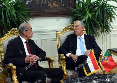 Stock Photo of Sherif Ismail and Marcelo Rebelo de Sousa