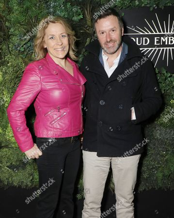 Stock Image of Sarah Beeny and Graham Swift