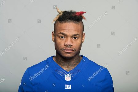 This is a 2017 photo of Valentino Blake of the New York Giants NFL football team. This image reflects the New York Giants active roster as of Monday, June 12, 2017 when this image was taken. (AP Photo)