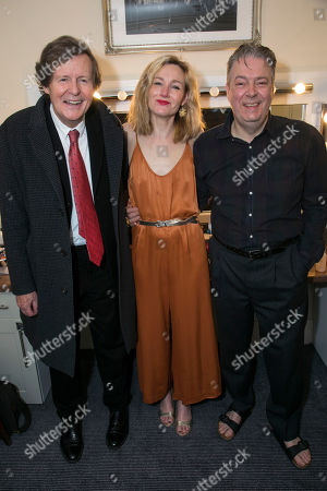 David Hare (Author), Nancy Carroll (Audrey Mildmay) and Roger Allam (John Christie) backstage
