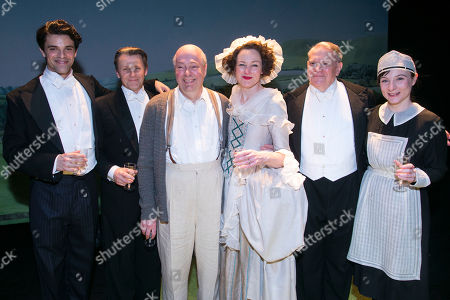Jacob Fortune-Lloyd (Rudolf Bing), Anthony Calf (Professor Carl Ebert), Roger Allam (John Christie), Nancy Carroll (Audrey Mildmay), Paul Jesson (Dr Fritz Busch) and Whinnie Williams (Jane Smith) backstage