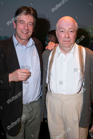 Gus Christie and Roger Allam (John Christie) backstage