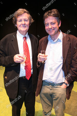 Stock Image of David Hare (Author) and Gus Christie backstage