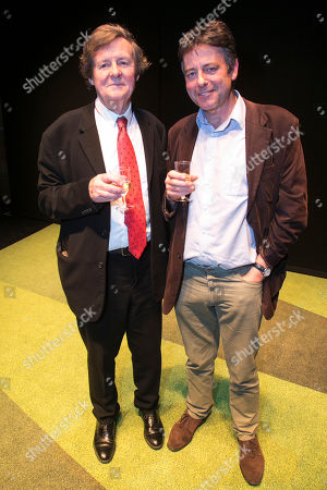 Stock Photo of David Hare (Author) and Gus Christie backstage