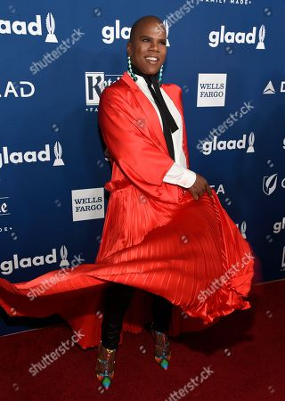 Miss Lawrence, Lawrence Washington. Miss Lawrence arrives at the 29th annual GLAAD Media Awards at the Beverly Hilton Hotel, in Beverly Hills, Calif
