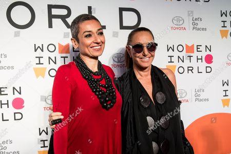 Zainab Salbi and Donna Karan