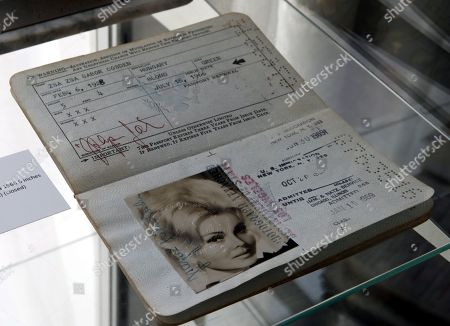 A circa 1966 passport of Zsa Zsa Gabor with the birthday changed to 1928 is displayed at the 'Hello Dal-ling: The Estate of Zsa Zsa Gabor' auction by Heritage Auctions at the late actress residence in Bel Air, California, USA, 12 April 2018. The live auction will take place 14 April 2018.