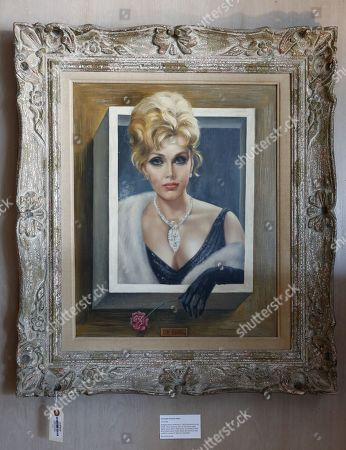 A Margaret Keane portrait of the late Hungarian-American actress Zsa Zsa Gabor is displayed at the 'Hello Dal-ling: The Estate of Zsa Zsa Gabor' auction by Heritage Auctions at the late actress residence in Bel Air, California, USA, 12 April 2018. The live auction will take place 14 April 2018.