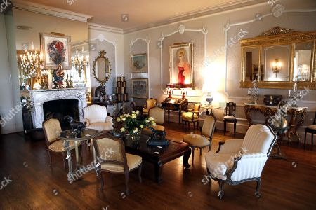 The living room in Zsa Zsa Gabor's Bel Air estate displays items for auction at the 'Hello Dal-ling: The Estate of Zsa Zsa Gabor' auction by Heritage Auctions at the late actress residence in Bel Air, California, USA, 12 April 2018. The live auction will take place 14 April 2018.