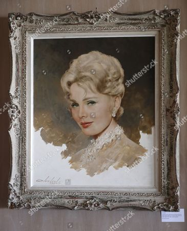 A Lembert de Soto portrait of Zsa Zsa Gabor is displayed at the 'Hello Dal-ling: The Estate of Zsa Zsa Gabor' auction by Heritage Auctions at the late actress residence in Bel Air, California, USA, 12 April 2018. The live auction will take place 14 April 2018.