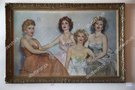 A Fried Pal portrait of Zsa Zsa Gabor (R) her sisters and mother is displayed at the 'Hello Dal-ling: The Estate of Zsa Zsa Gabor' auction by Heritage Auctions at the late actress residence in Bel Air, California, USA, 12 April 2018. The live auction will take place 14 April 2018.