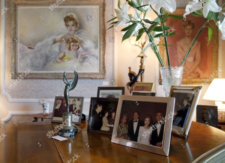 Photographs, an award and paintings belonging to the late Hungarian-American actress Zsa Zsa Gabor are displayed at the 'Hello Dal-ling: The Estate of Zsa Zsa Gabor' auction by Heritage Auctions at the actress' residence in Bel Air, California, USA, 12 April 2018. The live auction will take place 14 April 2018.