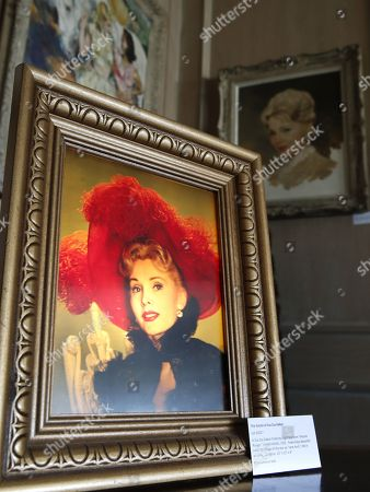 A publicity 3D light box painting from 'Moulin Rouge' of the late Hungarian-American actress Zsa Zsa Gabor is displayed at the 'Hello Dal-ling: The Estate of Zsa Zsa Gabor' auction by Heritage Auctions at the actress' residence in Bel Air, California, USA, 12 April 2018. The live auction will take place 14 April 2018.