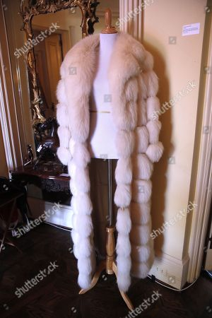 A fur coat belonging to the late Hungarian-American actress Zsa Zsa Gabor is displayed at the 'Hello Dal-ling: The Estate of Zsa Zsa Gabor' auction by Heritage Auctions at the actress' residence in Bel Air, California, USA, 12 April 2018. The live auction will take place 14 April 2018.