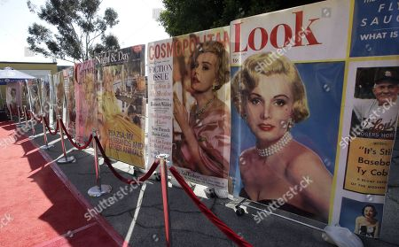 Magazine covers of the late Hungarian-American actress Zsa Zsa Gabor line the red carpet at the 'Hello Dal-ling: The Estate of Zsa Zsa Gabor' auction by Heritage Auctions at the actress' residence in Bel Air, California, USA, 12 April 2018. The live auction will take place 14 April 2018.
