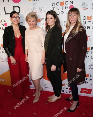 Maxeme Tuchman, Tina Brown, Emily Kennedy, Jackie Birdsall. CEO and co-founder of Caribu Maxeme Tuchman, from left, founder and CEO of Tina Brown Live Media/Women in the World Tina Brown, CEO and founder of Marinus Analytics Emily Kennedy and senior engineer at Toyota Jackie Birdsall