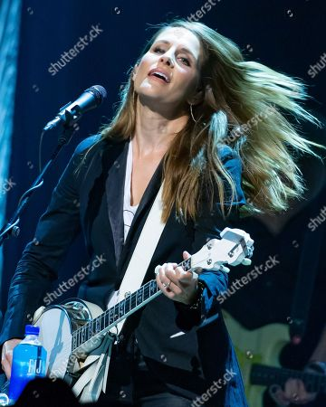 Stock Photo of Emily Robison of The Dixie Chicks performs in concert during the Mack, Jack & McConaughey Gala