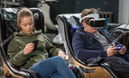 Ep 8121 Thursday 12th April 2018 - 1st Ep Liv, as played by Isobel Steele, admits to Gerry, as played by Shaun Thomas, that she's worried about the court case next week, and he offers her some supportive words of encouragement. She receives a message on her phone and quietly slips out.