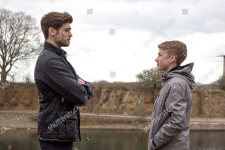 Ep 8139 Thursday 3rd May April 2018 - 1st Ep Noah Tate, as played by Jack Downham, turns up keen to hang out with his big brother. A few days later, Noah asks Joe to take him to the places he hung out with their dad. He reads Joe Tate's, as played by Ned Porteous, awkwardness as hesitance and storms off. Joe grabs a mountain bike to go after him. Noah rides his bike through the woods with Joe in pursuit. They end up at the edge of a quarry, chucking stones into the water as Joe approaches. They soon share their thoughts and it's emotional as they bond. Noah dares Joe to jump off the edge and Joe impulsively does it. When he doesn't resurface, Noah's left terrified his brother is dead.