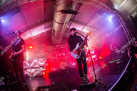 Editorial photo of Lower Than Atlantis in concert, The Engine Rooms, Southampton, UK - 12 Apr 2018
