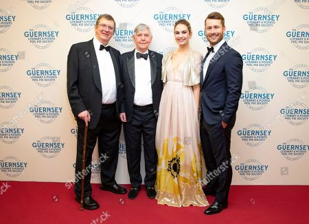 Editorial image of 'The Guernsey Literary and Potato Peel Pie Society' film premiere, Guernsey, UK - 12 Apr 2018