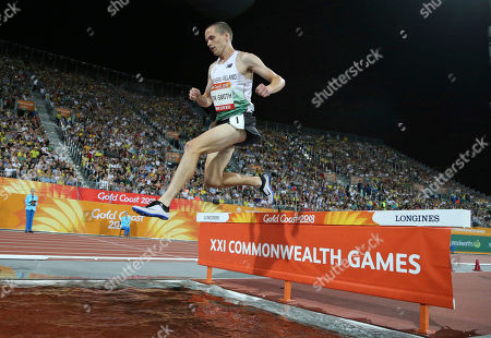 Northern Ireland's Adam Kirk-Smith competes in the men's 3000m steeplechase final at Carrara Stadium during the Commonwealth Games on the Gold Coast, Australia