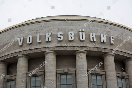 A general view of the Volksbuehne Theater in Berlin, Germany, 13 April 2018. It was reported in local media that the Volksbuehne Theater Director Chris Dercon Resiged from office. The resignation announced today, was by a mutual agreement between Dercon and the Berlin?s Culture Senator Klaus Lederer.