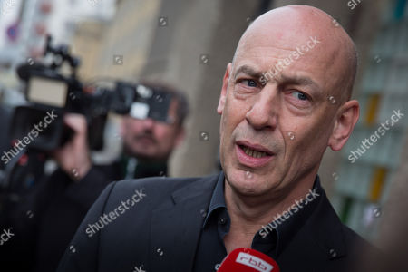 Editorial image of Controversial Volksbühne director Chris Dercon resigns, Berlin, Germany - 13 Apr 2018
