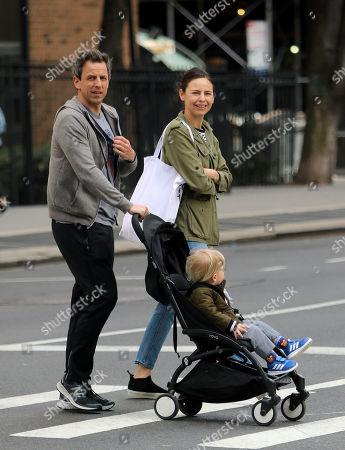 Seth Meyers, Alexi Ashe and son Ashe Olsen Meyers