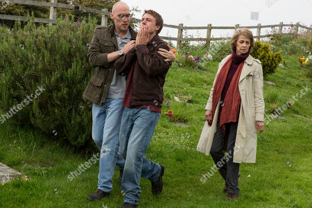 Stock Picture of Joe Sims as Nige Carter, Charlotte Rampling as Jocelyn Knight. and Andrew Buchan as Mark Latimer.