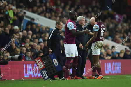 Christopher Samba of Aston Villa comes on as substitute for Joshua Onomah of Aston Villa