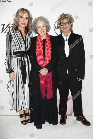 Michelle Sobrino-Stearns, Margaret Atwood and Claudia Eller