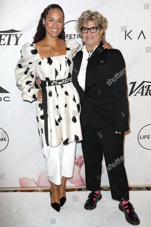 Alicia Keys and Claudia Eller