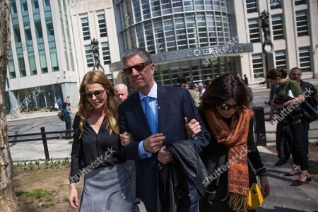 NXIVM. Actress Catherine Oxenberg, left, departs with Stanley Zareff and Toni Natalie, who is Keith Raniere's ex-girlfriend, following alleged cult-leader Raniere's arraignment in federal court, in New York. Oxenberg's daughter India has been named as a co-conspirator in a criminal complaint against Raniere