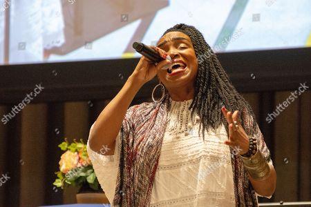 Stock Photo of Haitian singer Emeline Michel