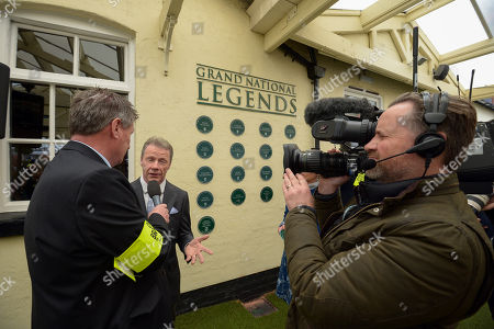 Mick Fitzgerald is interviewed by Gordon Brown after his appointment as a Grand National Legend