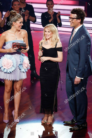 Victoria Swarovski, Kylie Minogue and Daniel Hartwich