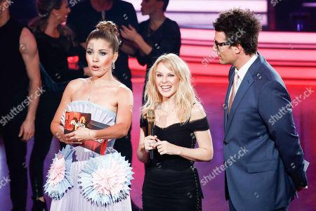 Stock Image of Victoria Swarovski, Kylie Minogue and Daniel Hartwich