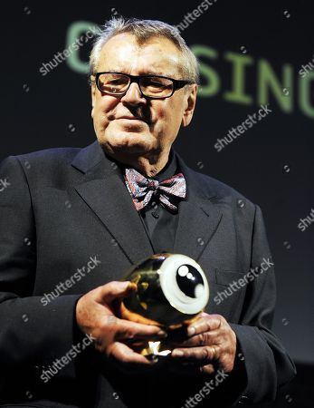 Czech film director Milos Forman smiles after recieving a tribute for his lifetime work, at the closing night of the Zurich Film Festival in Zurich, Switzerland, 02 October 2010.   Milos Forman died on 14 April 2018 at 86 years old.