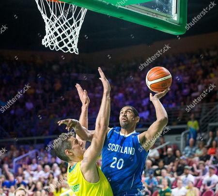Basketball:  Australia v Scotland - Kieron Achara