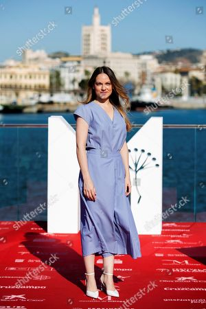Spanish actress Irene Ruiz poses during the presentation of the film 'Ana de dia' at the 21st edition of Malaga Spanish Film Festival, in Malaga, southeastern Spain, 14 April 2018. The movie, directed by Spanish Andrea Jaurrieta, has been presented within the official section of the festival, which runs from 13 to 22 April.