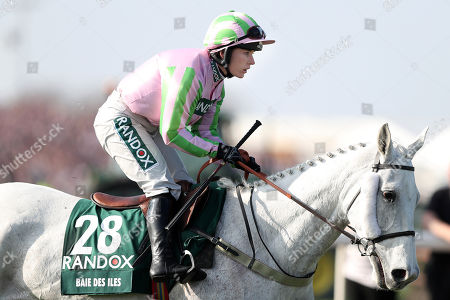 Katie Walsh riding Baie Des Iles before the start of The Randox Health Grand National Handicap Steeple Chase.