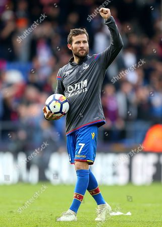 Yohan Cabaye of Crystal Palace acknowledges the fans