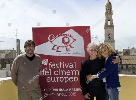 Stock Photo of Pino Calabrese, Eva Grimaldi and Alfredo Fiorillo