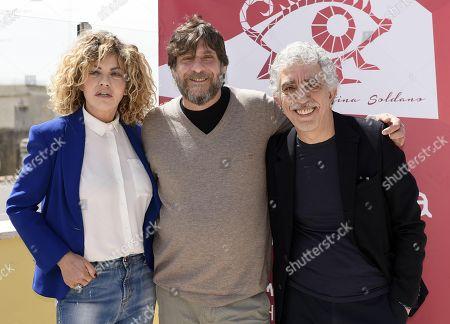 Pino Calabrese, Eva Grimaldi and Alfredo Fiorillo