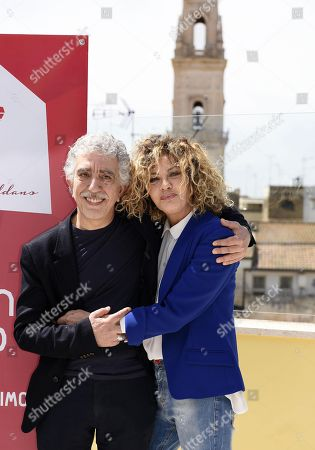 Stock Image of Pino Calabrese and Eva Grimaldi